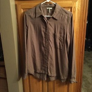 BKE Large taupe button up shirt WORN ONCE